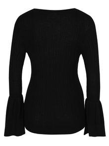 Čierny ľahký sveter so zvonovými rukávmi VILA Lesly