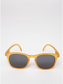 Horčicové detské slnečné okuliare s tmavými sklami IZIPIZI  #E