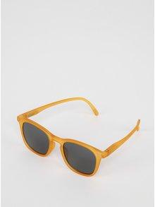 Hořčicové dětské sluneční brýle s tmavými skly IZIPIZI  #E
