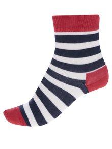 Modro-červené detské pruhované ponožky Happy Socks Stripe