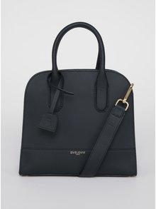 Čierna kožená kabelka Emblemm
