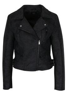 Jachetă biker neagră cu revere și catarame - ONLY Rush