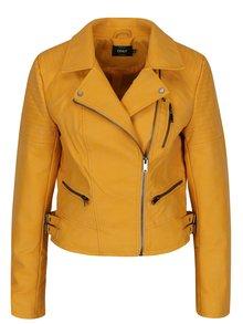 Jachetă biker galbenă cu fermoar asimetric - ONLY Rush