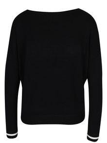 Čierny sveter s nášivkou ONLY Sonja
