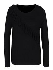 Čierny sveter s volánom ONLY Mila