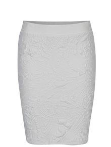 Krémová pouzdrová sukně s 3D vzorem Jacqueline de Yong Wilder