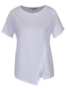 Bílé asymetrické tričko se zavazováním TALLY WEiJL
