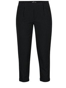 Černé pruhované zkrácené kalhoty TALLY WEiJL