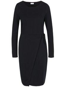 Čierne šaty s dlhým rukávom VILA Jamba