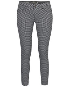 Pantaloni skinny cu push - up negru & alb - TALLY WEiJL