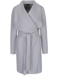 Světle šedý lehký kabát se zavazováním TALLY WEiJL