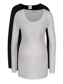 Set de 2 tricouri alb & negru Mama.licious Lea