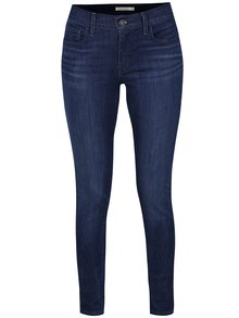 Blugi bleumarin super-skinny cu aspect prespălat pentru femei Levi's® Elixir
