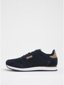 Pantofi sport bleumarin cu detalii din piele intoarsa Woden Ydun pentru femei