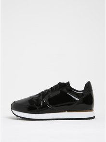 Pantofi negri sport glossy pentru femei - Woden Ydun II