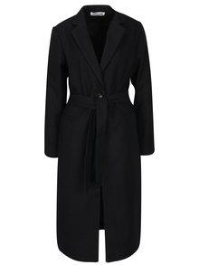 Čierny dlhý kabát s opaskom Noisy May Minna