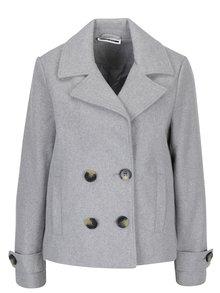 Svetlosivý krátky kabát Noisy May Minna