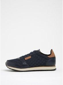 Pantofi sport bleumarin cu detalii din piele  Woden Ydun pentru femei