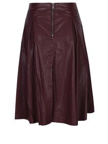 Vínová koženková sukně ONLY Tinka Ella