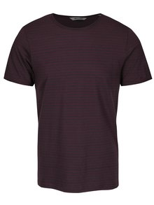 Vínové pruhované tričko ONLY & SONS Albert Stripe