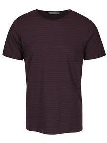 Vínové pruhované triko ONLY & SONS Albert Stripe