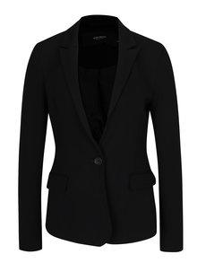 Čierne sako so zapínaním na gombík VERO MODA Rory
