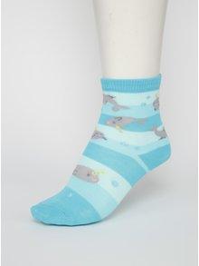 Modré chlapčenské ponožky s narvalmi Sock It to Me Unicorn Of The Sea