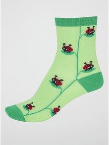 Zelené dětské ponožky s beruškami Sock It to Me Lady Bug
