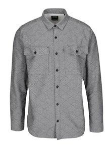 Sivá kockovaná melírovaná košeľa ONLY & SONS Thomas