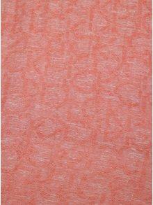 Korálový šátek s jemným vzorem Calvin Klein Jeans Jacquard