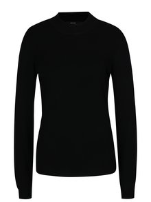 Čierny sveter s dlhým rukávom VERO MODA Glory