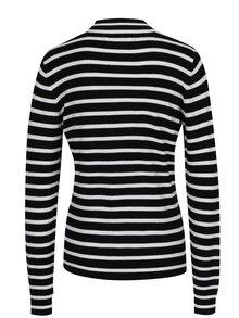 Krémovo-černý pruhovaný svetr s dlouhým rukávem VERO MODA Glory