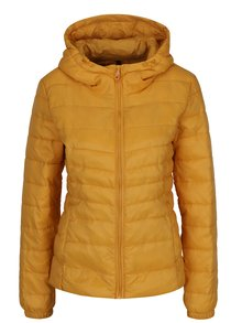 Jachetă matlasată galbenă cu glugă pentru femei - ONLY Tahoe