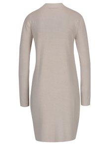 Rochie pulover bej cu mânecă lungă Yest