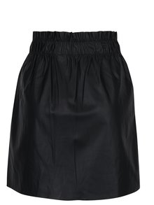 Čierna koženková sukňa s vreckami ONLY Tinka