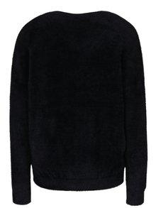 Pulover negru cu decolteu en coeur VERO MODA Moraga