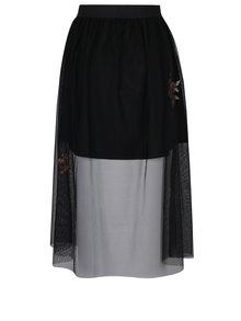 Čierna tylová sukňa s nášivkami ONLY Mary