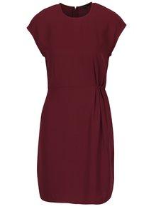 Vínové šaty s řasením na boku VERO MODA Nice