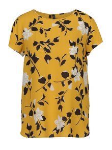 Bluză galbenă cu print floral VERO MODA Alissa