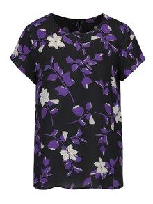 Bluză neagră cu print floral VERO MODA Alissa