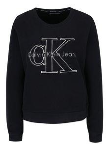Černá dámská mikina s výšivkou Calvin Klein Jeans Harper