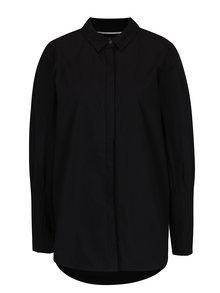 Čierna košeľa s dlhým skladaným rukávom VERO MODA Thea