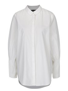 Krémová košeľa s dlhým skladaným rukávom VERO MODA Thea