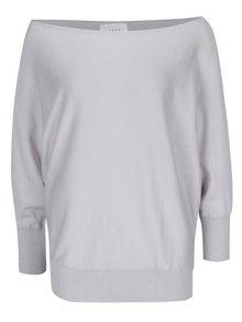 Sivý voľný asymetrický sveter s netopierími rukávmi YAYA