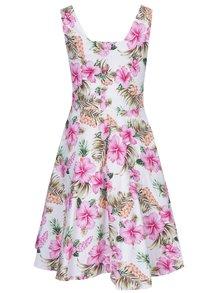 Růžovo-bílé květované šaty Dolly & Dotty Natalie
