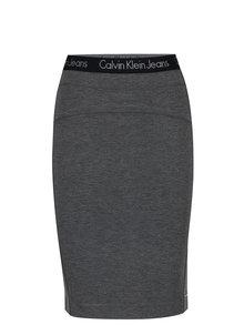 Tmavě šedá pouzdrová sukně Calvin Klein Jeans Kiri