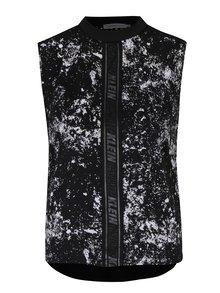 Čierno-biely dámsky vzorovaný top bez rukávov Calvin Klein Jeans Westa