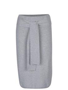 Sivá melírovaná puzdrová sukňa s prímesou vlny YAYA