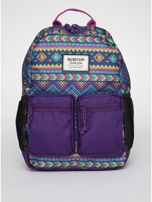 Fialový dětský vzorovaný batoh Burton Gromlet 15 l