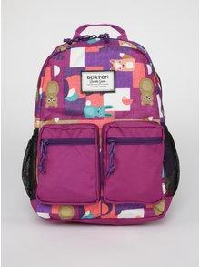 Fialový detský vzorovaný batoh s motívom zvierat Burton Gromlet 15 l
